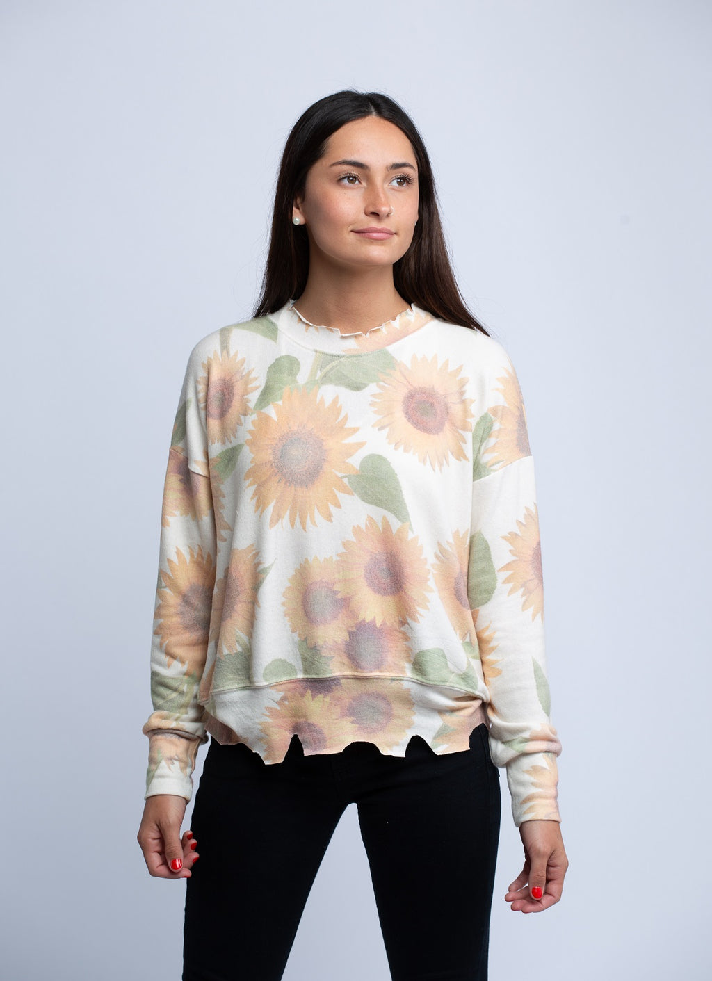LNA<br>Brushed Duncan Sweater Sunflower - Trendy Fox Boutique