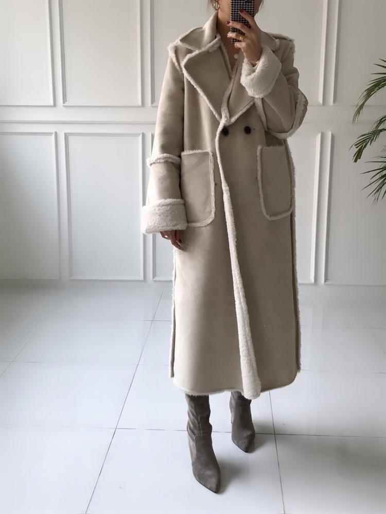 REVERSIBLE FAUX FUR LONG COAT - Trendy Fox Boutique