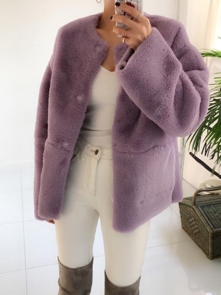 Short Faux Fur Jacket - Trendy Fox Boutique