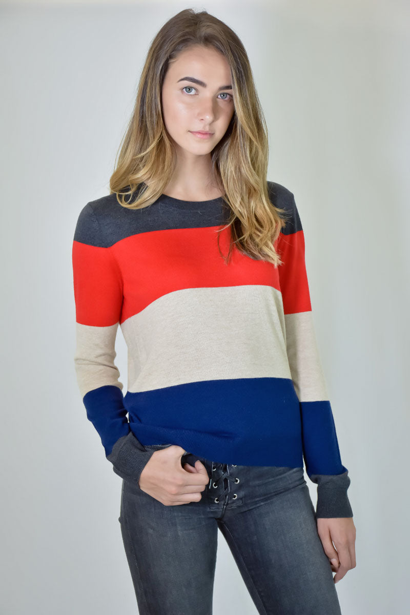 Cascade Colorblock Sweater <br> Splendid - Trendy Fox Boutique
