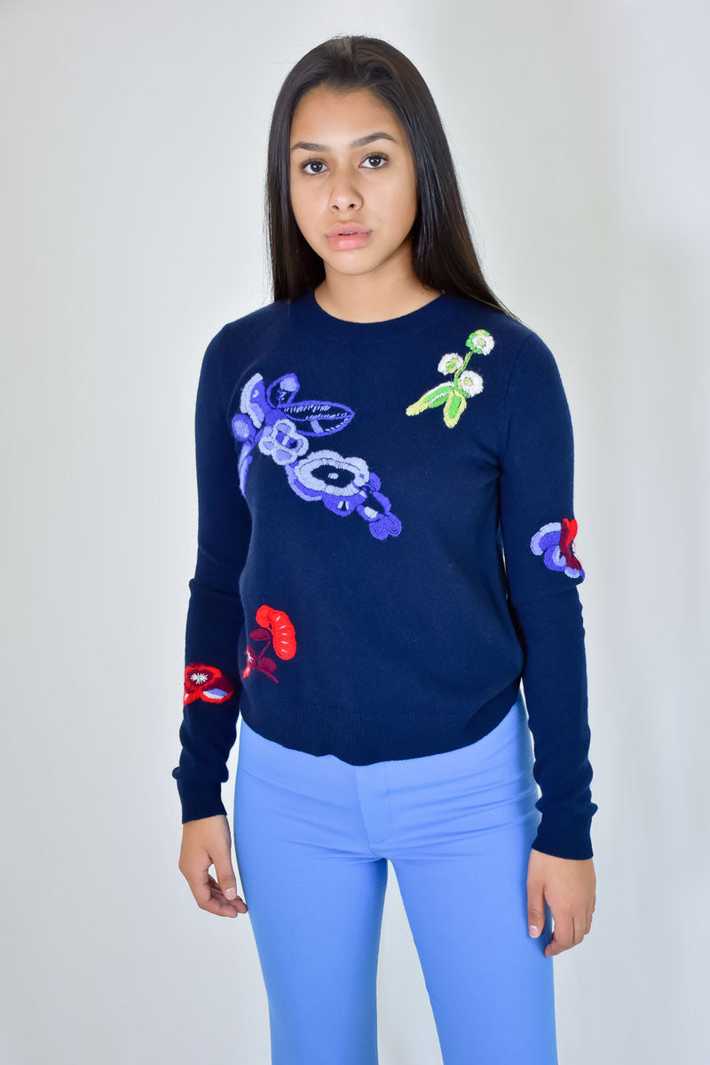 Floral Embroidered Cashmere <br> Autumn Cashmere - Trendy Fox Boutique