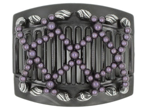 African Butterfly Thick Hair Comb - Ndalena Black 65