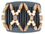 African Butterfly Chameleon Hair Comb - Dalena Black 06