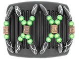 African Butterfly Chameleon Hair Comb - Dalena Black 08