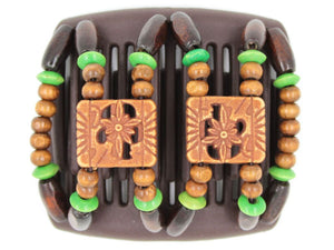 African Butterfly Chameleon Hair Comb - Dupla Brown 22
