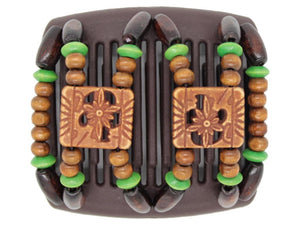 African Butterfly Chameleon Hair Comb - Dupla Brown 27