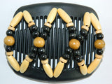 African Butterfly Hair Comb - Beada Black 07
