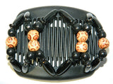African Butterfly Hair Comb - Beada Black 190