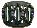 African Butterfly Hair Comb - Beada Black 69