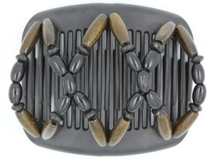 African Butterfly Hair Comb - Beada Black 72