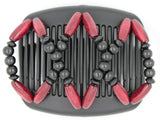 African Butterfly Hair Comb - Beada Black 80