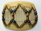 African Butterfly Hair Comb - Beada Blonde 08