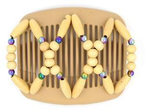 African Butterfly Hair Comb - Beada Blonde 48