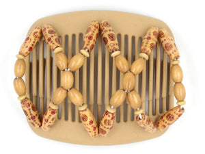 African Butterfly Hair Comb - Beada Blonde 49