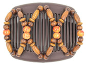 African Butterfly Hair Comb - Beada Brown 196