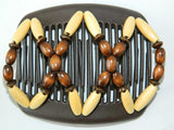 African Butterfly Hair Comb - Beada Brown 23