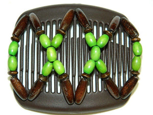 African Butterfly Hair Comb - Beada Brown 58