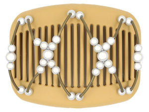 African Butterfly Hair Comb - Beada Tube Blonde 38