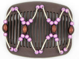 African Butterfly Hair Comb - Beada Tube Brown 01