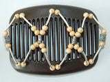 African Butterfly Hair Comb - Beada Tube Brown 05