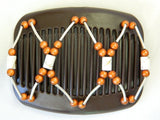 African Butterfly Hair Comb - Beada Tube Brown 09
