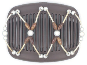 African Butterfly Hair Comb - Beada Tube Brown 41
