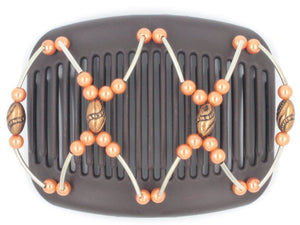 African Butterfly Hair Comb - Beada Tube Brown 42