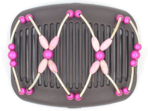 African Butterfly Hair Comb - Beada Tube Brown 44