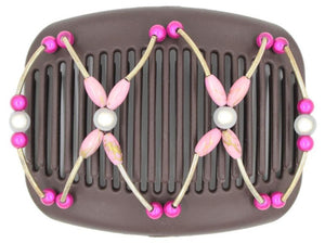 African Butterfly Hair Comb - Beada Tube Brown 47