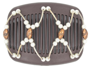 African Butterfly Hair Comb - Beada Tube Brown 48