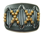 African Butterfly Hair Comb - Dalena Black 01