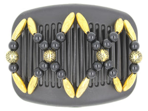 African Butterfly Hair Comb - Dalena Black 102