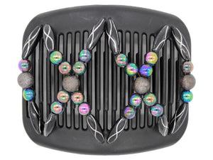 African Butterfly Hair Comb - Dalena Black 87