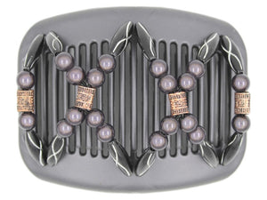 African Butterfly Hair Comb - Dalena Black Pearl 18