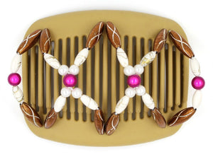 African Butterfly Hair Comb - Dalena Blonde 48