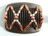 African Butterfly Hair Comb - Dalena Brown 03