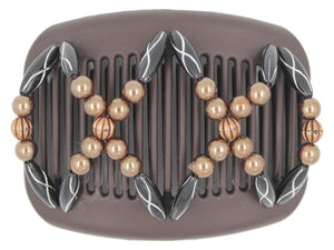African Butterfly Hair Comb - Dalena Brown 100