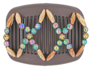 African Butterfly Hair Comb - Dalena Brown 101
