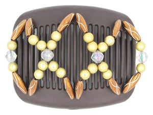 African Butterfly Hair Comb - Dalena Brown 117