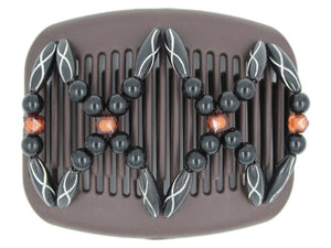 African Butterfly Hair Comb - Dalena Brown 119