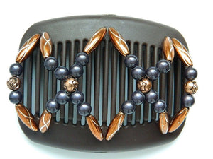 African Butterfly Hair Comb - Dalena Brown 45