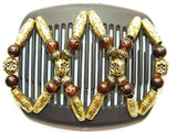 African Butterfly Hair Comb - Dalena Brown 61