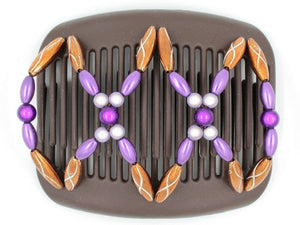 African Butterfly Hair Comb - Dalena Brown 83