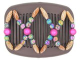 African Butterfly Hair Comb - Dalena Brown 97