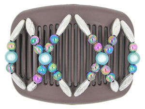 African Butterfly Hair Comb - Dalena Brown 99
