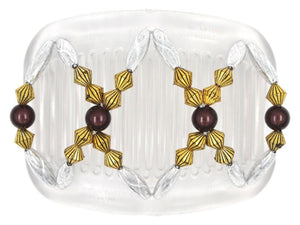 African Butterfly Hair Comb - Dalena Clear 82