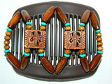 African Butterfly Hair Comb - Dupla Brown 13