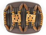 African Butterfly Hair Comb - Dupla Brown 59