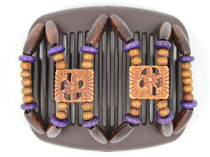 African Butterfly Hair Comb - Dupla Brown 72