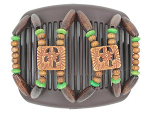 African Butterfly Hair Comb - Dupla Brown 90